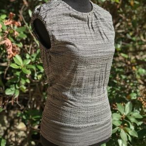 Missoni Shirt Gray Marled Crinkle Knit IT 44/US 10